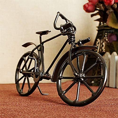 ZSQQSCL Escultura Estatua,Bicicleta Antigua Modelo De Metal Artesanía Decoración del Hogar Bicicleta Retro Miniatura Pequeños Adornos Niños Cumpleaños Juguetes Regalos Creativos