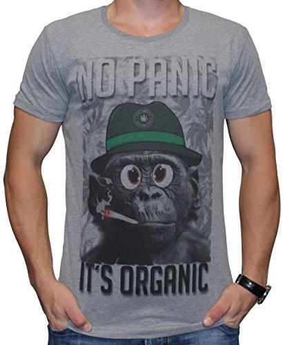 40by1, Herren T-Shirt, It's Organic, Grey, 40/1-14-062-g, GR L