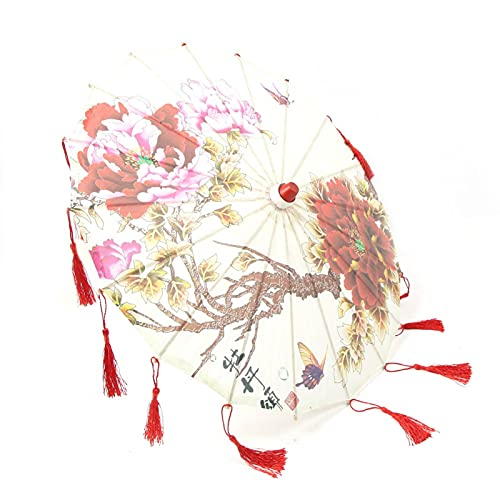Buachois Ombrello di Carta Oliato Stile Antico Fatto a Mano Nappe Artigianato Decorazione Ombrello per Danza Fotografia Cosplay Banchetto Matrimonio(#1)
