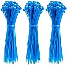 4 Inch Zip Ties, 300pcs Nylon Cable Ties BLUE