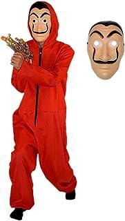 V/êtements Dali pour Le Costume De Mascarade De Partie De Halloween Costume Rouge Adulte De V/êtements De Salle De Papier De Lin Cloud speeding D/éguisement La CASA De Papel
