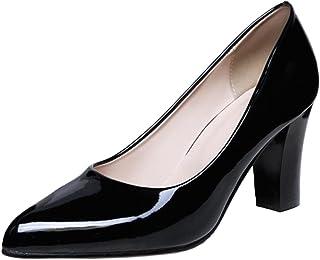 COOLCEPT Femmes Chaussures Talons Hauts Escarpins Pointu de Travail