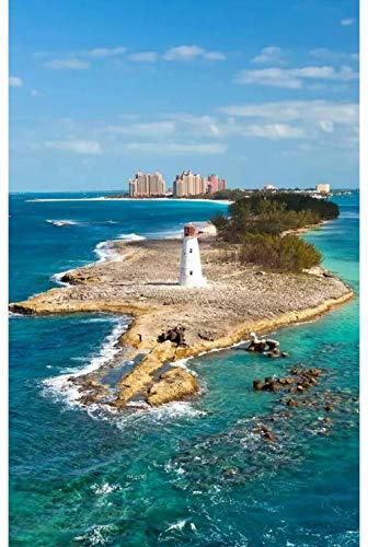 Una Vista De La Torre De Observación De La Playa 5D Diy Kits De Pintura De Diamante Taladro Completo Redondo Pinturas De Bordado De Diamantes Para Adultos Juego De Interior Resina Pintura De Diamante