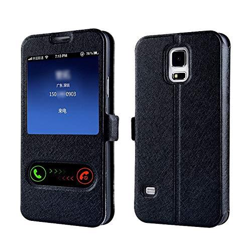 RZL Teléfono móvil Fundas Elegante de Lujo de la Ventana Delantera Ver la Cubierta del Caso de FILP de Cuero para Samsung Galaxy A3 A5 A7 J1 J3 J5 J7 2016 2017 S8 Plus S7 S6 Edge S5
