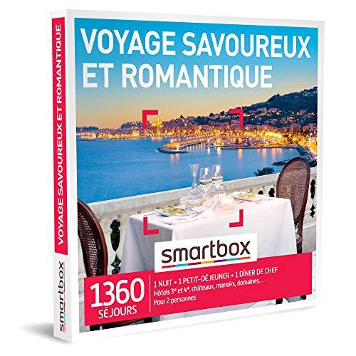 SMARTBOX - Coffret Cadeau Couple - Idée cadeau original : Séjour romantique et gastronomique pour un moment à deux inoubliable