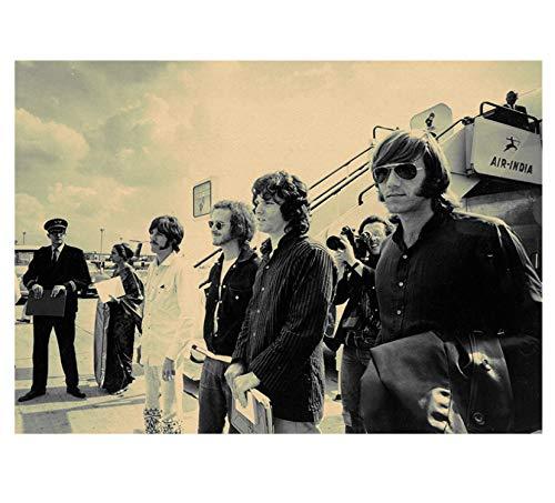 Vintage Poster Wohnkultur Die Türen Jim Morrison Kraft Rock Poster Retro Poster Rock Band Musik Star Poster Wandbilder 42 * 60 cm ohne Rahmen