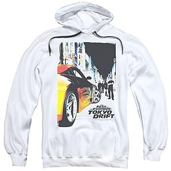 MMM Merchandising Tokyo Drift Mens Poster Pullover Hoodie XXX-Large White