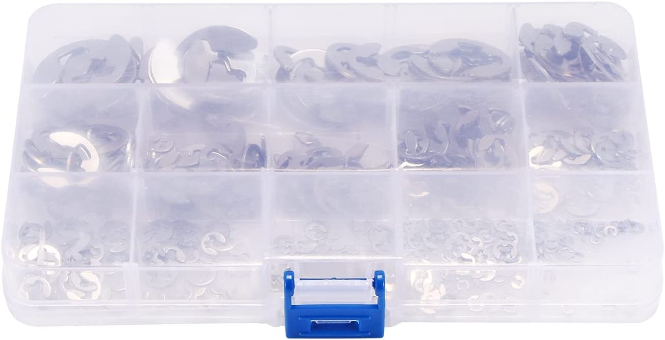 ZHANGM 400pcs E Circlip Special sale item Stainless R Steel Kit Assortment Max 43% OFF Ringent