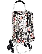 Wózek na zakupy z 3 kółkami i aluminiowymi uchwytami
