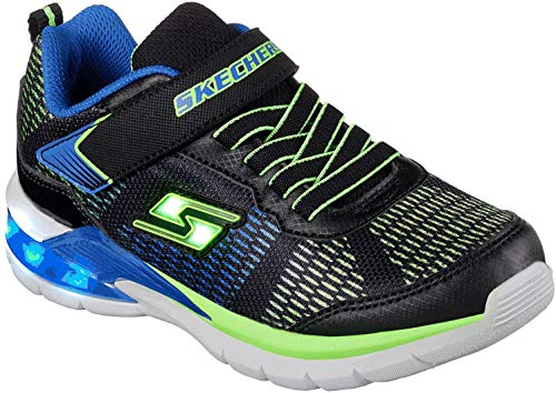 Skechers Boy's Erupters Ii Trainers, Black (Black/Blue/Lime Bblm), 1.5 UK (34 EU)