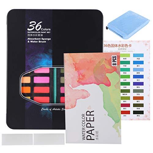 Pigmentos de acuarela, pintura de dibujo, para principiantes, aficionados, estudiantes de arte, polvo fino, etc.