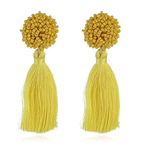 Los Pendientes De Pendientes Para Pendientes Baratos Pendientes Para Mujer Multicolor Riquead Oreja Circulación Suprema Joyería Femenina-Amarillo-1