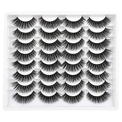 Ruairie 16 Pairs False Eyelashes Fluffy Volume 3D False Lashes Pack Soft Fake Eyelashes Natural Looking