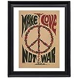 EV Make Love Not War Anti War 1967 Picture Frame - Poster - Print