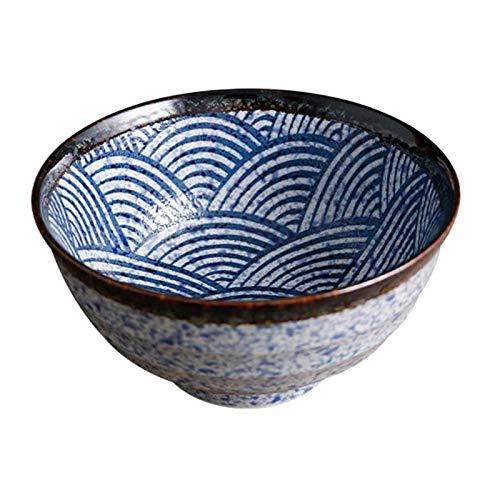 GCE Cuenco de Sopa de Ramen de cerámica Japonesa Cuencos de Ramen con Personalidad Cereales Vintage 1 Pieza