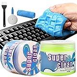 Camelize Tastatur Reinigungsgel,2 Stück Super Clean Gel,Keyboard Cleaner,Universal Cleaning Gel für PC Tablet Laptop Tastaturen, Auto Entlüftungsöffnungen, Kameras, Drucker, Taschenrechner.