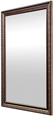 999Store Fiber Framed Decorative Wall Mirror or Bathroom Mirror Silver (30X20)