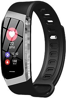 BD.Y Monitor de sueño a Prueba de Agua de podómetro de 1 Pulgada Rastreador de condición física de Contador de Pasos con rastreador GPS Conectado (Color: Rosa)
