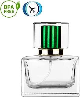 Perfume Atomizer Refillable, 1oz Empty Perfume Glass Spray Bottles With Green Sprayer
