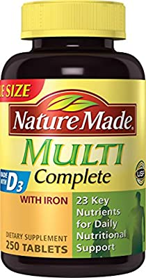 Nature Made Multi Complete Tablets w. Iron 130 Ct