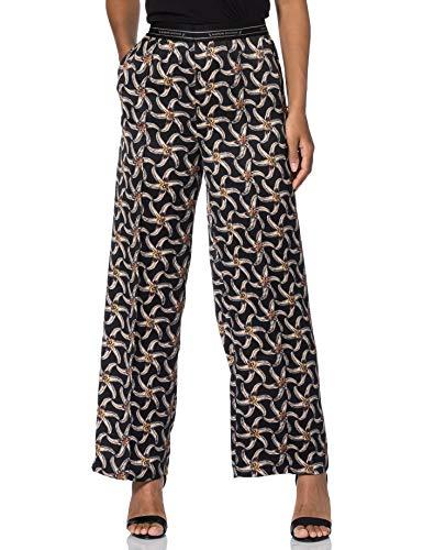Scotch & Soda Dames bedrukte wijde pijpen en elastische tailleband casual broek