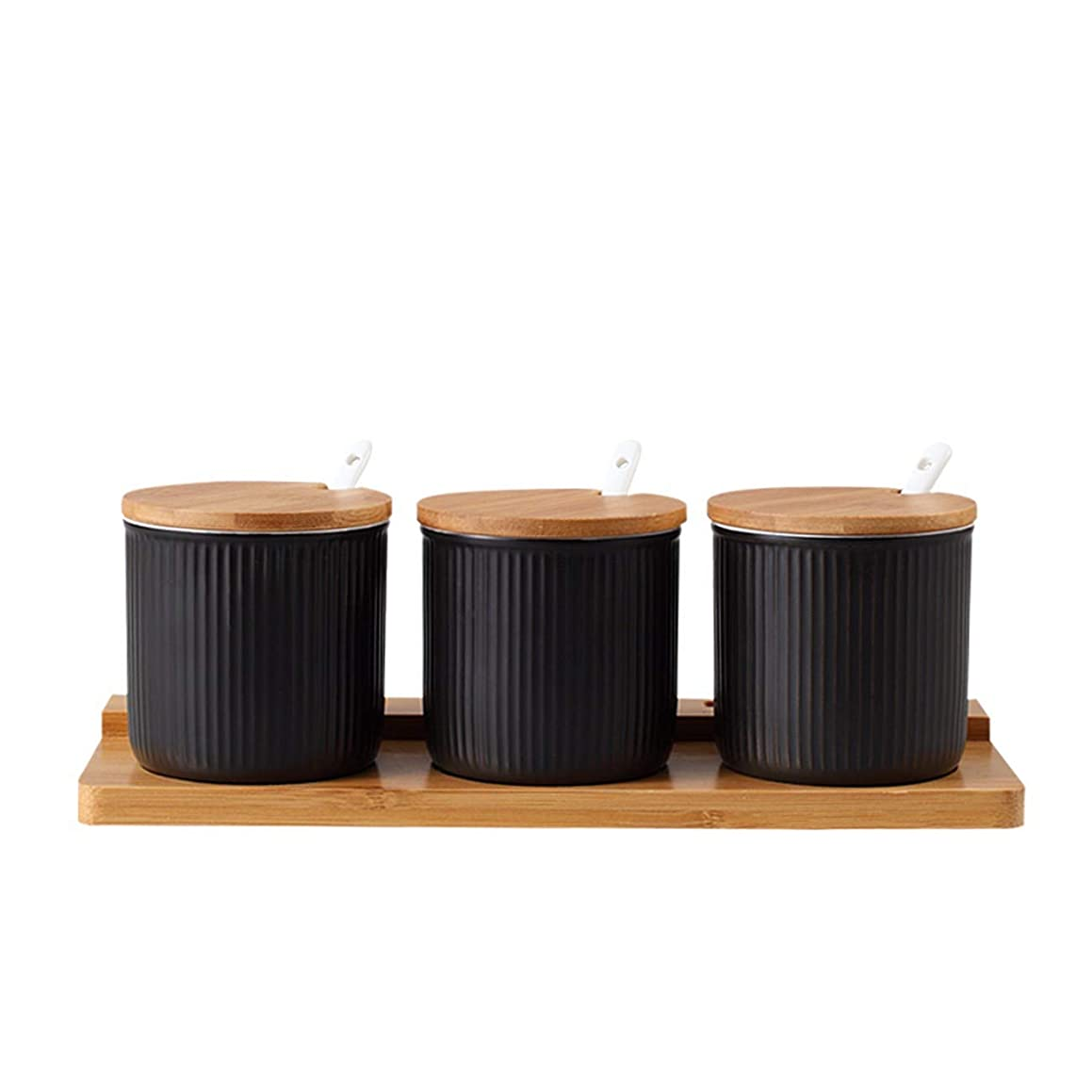 QPGGP-Condiment Yaguang ceramic condiment pot household condiment box set condiment bottle condiment pot salt pot three sets,E