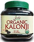 Jiva USDA Organic Kalonji 1 Pound Jar - Raw, Non-GMO Black Cumin Seed (Kalaunji, Nigella Sativa)