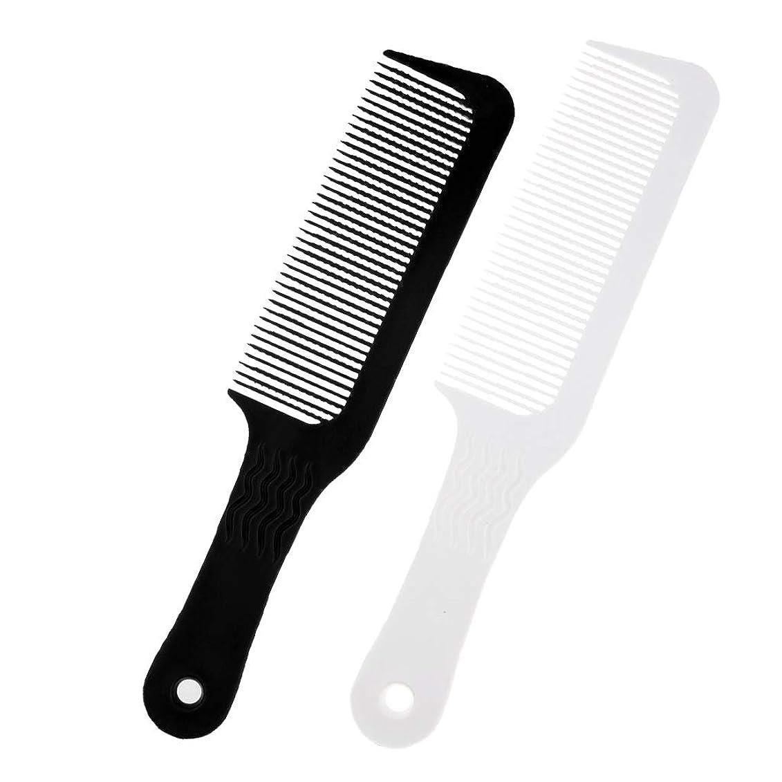 キャリアハプニング規定CUTICATE ヘアブラシ ヘアダイコーム コーム クリッパー櫛 プラスチック 理髪店 用品 2個入り