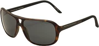 Porsche P8557-C Havana Aviator Sunglasses