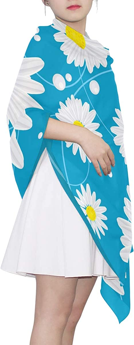 XLING Fashion Scarf Colorful Floral Flower Daisy Long Lightweight Sunscreen Scarf Shawl Wrap Muffler Neckerchief for Women Men