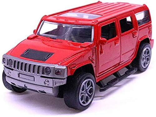 Model auto 11.5cm 1:32 Schaal Metal Alloy Classic Hummer H3 SUV Off Road Auto Model Pull Back Model Auto's en voertuigen Toys F Kinder Giften dljyy ( Color : Red )