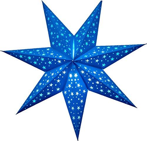 Constellation 7 Point Paper Star Lantern (Firoza Blue) by UMTA