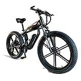 HOME-MJJ 26 Pulgadas Fat Tire Bicicleta Eléctrica 48V 400W Bicicleta Eléctrica para Nieve 30 Velocidades Bicicletas Eléctricas para Adultos Beach Cruiser Deportes para Hombre Bicicletas