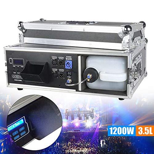 LiFuJunDong 1200W Stage Fog Machine Smoke Machine DMX Control 2 Channels Remote Control for Stage DJ Show Effects
