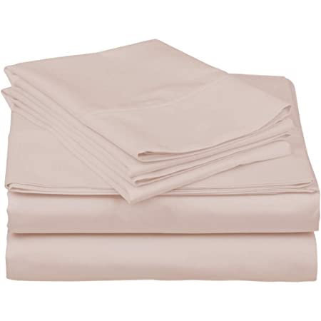 Amazon Com Mayfair Linen 100 Egyptian Cotton Sheets Blush Queen Sheets Set 800 Thread Count Long Staple Cotton Sateen Weave For Soft And Silky Feel Fits Mattress Upto 18 Deep Pocket Kitchen