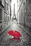 Paris - Frankreich - Regenschirm - Eiffelturm -Poster Druck