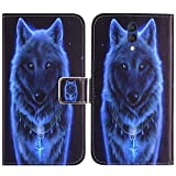 TienJueShi Wolf Stand Flip PU Leather TPU Silicone