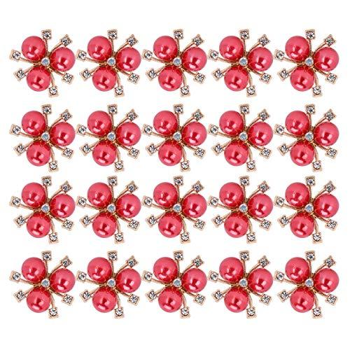 Diamantes de imitación de flor de perla de bricolaje, diamantes de imitación de flor de perla broche de brazalete de ropa de bricolaje para carnavales para bodas para ceremonias para(red)