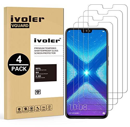 iVoler [4 Pack] Pellicola Vetro Temperato per Huawei Honor 9X Lite/Huawei Honor View 10 Lite, Pellicola Protettiva, Protezione per Schermo - Transparente