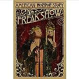 Newgeli Vintage Sideshow Zirkus Poster Freak Show Schlitzie