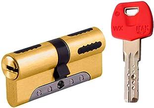 IFAM WX1000 veiligheidscilinder, 30 x 40 mm, messing, versterkt, dubbele koppeling, onbreekbaar, anti-boren, anti-verwijde...