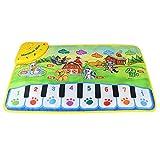 Baby Kind Klaviermusik Teppich, Baby Kinder Zoo Tier Musik Touch Play Teppich Matte Spielzeug Klavier Musik Bodenmatte Musikdecke Teppich Spielmatte -