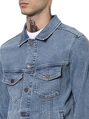 Jack & Jones Jjialvin Jjjacket Sa 002 Noos Chaqueta de Jean, Azul (Denim), L para Hombre