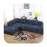 TOIT 2 Fundas para sofá esquinero, Chaise Longue y sofá Seccional, Funda Universal elástica L en Forma de Fundas de sofá, 6, 80-140cm 145-190cm