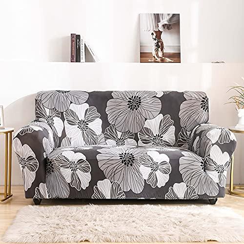 WXQY Funda de sofá de Flores Sala de Estar elástica con Todo Incluido Funda de sofá Chaise Longue sección Moderna Funda de sofá de Esquina Funda de Silla A9 1 Plaza
