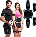 SHENGMI ABS Trainer Muscle Stimulator,Muscle Stimulator,Home Gym Belt,Abs Stimulator Workout Equipment For Men & Women,Electronic Toning Belts Workout Home Fitness Device with USB Rechargeable