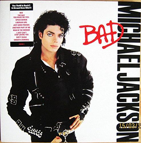 MICHAEL JACKSON Vinyl LP -Bad (includes Man In The Mirror,Smooth Criminal) EX+