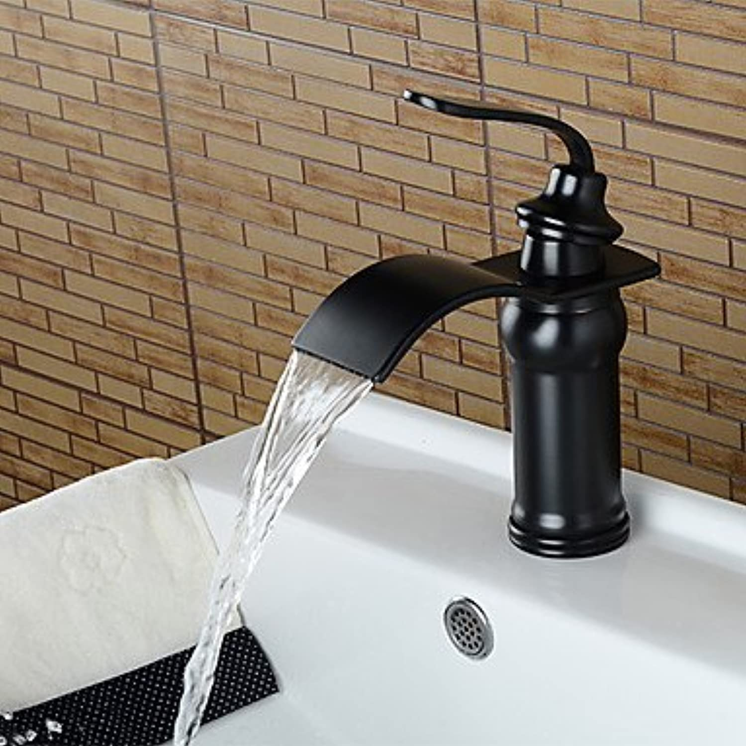 GDS Faucet£? American Standard Widespread Single Handle One Hole in Oil-rubbed Bronze Bathroom Sink Faucet , black