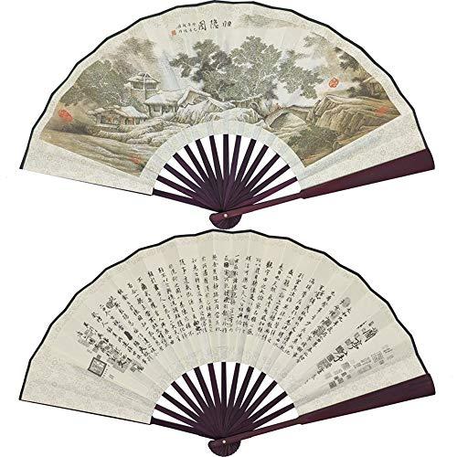 CYQ Faltfächer Falten Hand Fan, China Large Premium Qualität Hand Fans, chinesische Geschenke, mit Fan-Tasche (Farbe : I)