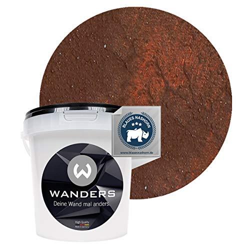 Wanders24 Rost-Optik (1 Liter, Rost) Wandfarbe für Rost-Effekt, individuelle Gestaltung für Zuhause, Farbe Made in Germany